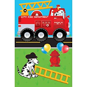 Fire Engine Fun Party Game Poster (1ct)