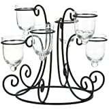 Round Wrought Iron Candle Holder Centerpiece