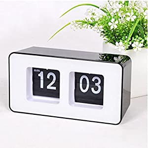 best mall stylish modern retro auto flip clock desk table file down page clocks. Black Bedroom Furniture Sets. Home Design Ideas