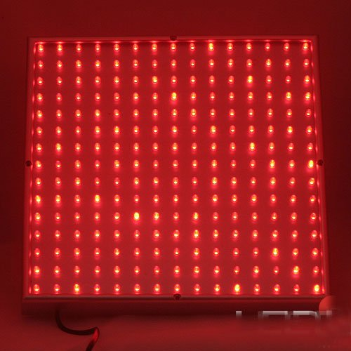 LED Wholesalers 2501RD Red 225 LED 13.8 Watt Square Grow Light Panel 110 Volt