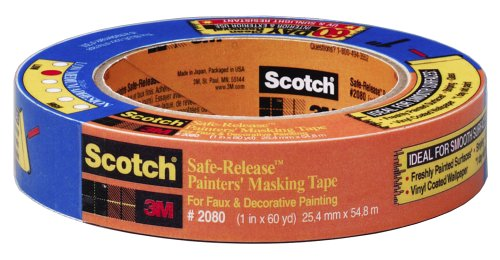 Buy 3M 1-1/2-Inch by 60-Yard Scotch Blue Safe-Release Painter's Tape #2080 (3M Painting Supplies,Home & Garden, Home Improvement, Categories, Painting Tools & Supplies, Prep Materials, Tape)
