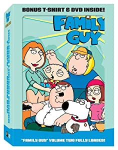 Family guy vol 2 with bonus t shirt and dvd for Family guy t shirts amazon