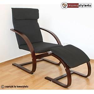 homestyle4u schwingsessel freischwinger sessel mit hocker. Black Bedroom Furniture Sets. Home Design Ideas