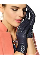 Bestselling Women's Winter Warm Nappa Leather Gloves (Plush/cashmere Lining)