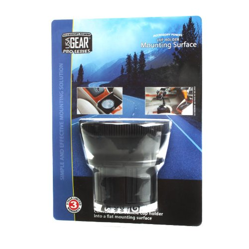 Usa Gear Universal Adjustable Vehicle Cup Holder Adapter