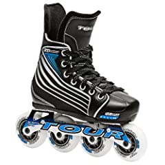 Tour Hockey ZT800 Inline Roller Skates, Adj Youth 11-1 by Tour Hockey