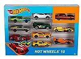 Hot Wheels - 54886 - Véhicule Miniature - Coffret 10 Voitures - Modèle aléatoire...