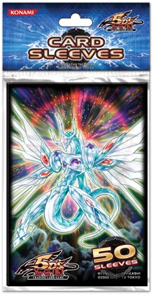 YuGiOh 5D's Konami Official Duelist Card Sleeves Majestic Star Dragon 50 Count
