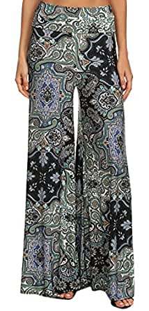 Luxury  One Size Elephant Print Womens Baggy Exercise Casual Pants For Women