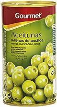 Gourmet Aceitunas Rellenas de anchoa, Verdes Manzanilla Extra - 150 g