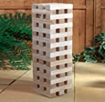 GIANT WOODEN TUMBLING TOWER BLOCKS GA...