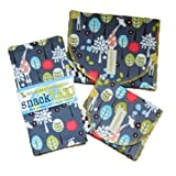 SnackTaxi Reusable Sandwich-sack Bag, Snack-sack Bag and Twice-as-nice Napkin Giraffe Garden Set.
