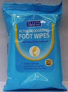 Beauty Formulas Deodorising Foot Wipes - 20 Sachets