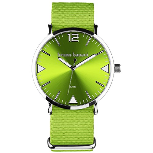 Bruno Banani BR30058Cool Color Watch Unisex Analogue Air Band Metal 50m Green