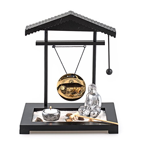 Pajoma gong giardino zen con gong statua del buddha e - Accessori giardino zen ...