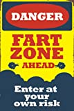 Seven Rays Danger Fart Zone Ahead (Small) Poster