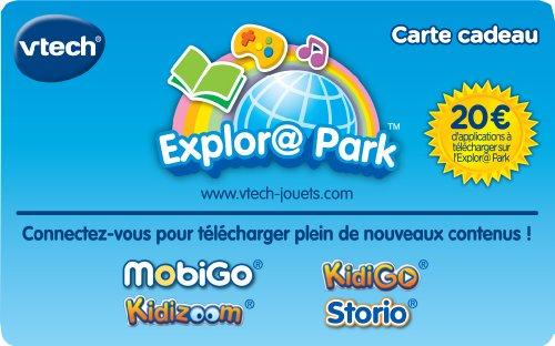 Vtech - 201505 - Jeu Électronique - Carte Cadeau Explora Park - 20 euros d'applications pour Storio 1/2/3 et Mobigo