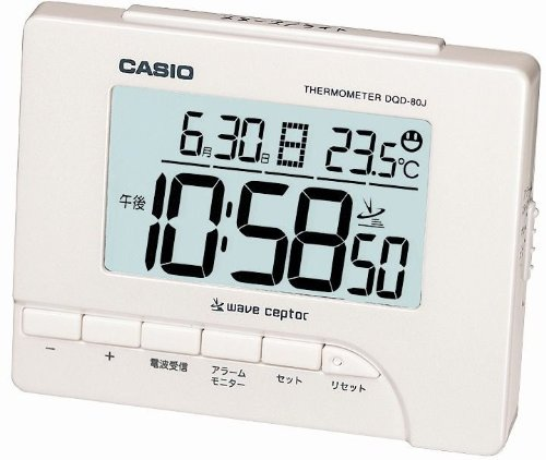 CASIO DQD-80J-7JF temperature display digital alarm clock radio clock