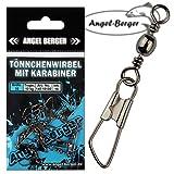 Angel Berger Tönnchenwirbel mit Karabiner 10 Stück Wirbel