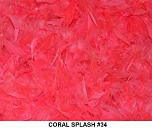 Solid Boas 6 Foot Long 50 Gram in a Variety of Shades Great for Parties, Crafts, and Fun! (Coral Splash #34)