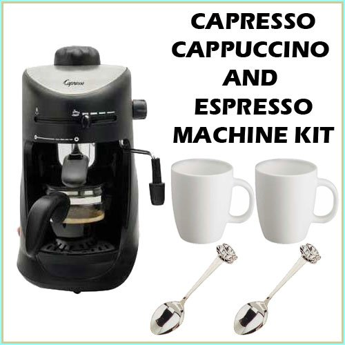 Capresso 30301 4-Cup Espresso and Cappuccino Machine + Espresso Machine Accessory Bundle