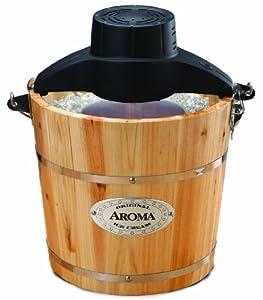 Aroma AIC-204 Traditional Ice Cream Maker, 4-Quart by Aroma