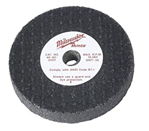 Milwaukee 49-92-0500 3 by 1/2-Inch 36-Grit Grinding Wheel at Sears.com
