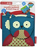 Skip Hop Zoo Reusable Sandwich and Snack Bag Set,  Owl