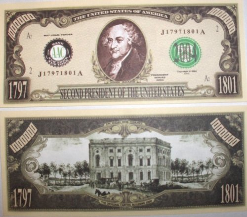 Buy Set of 100-president John Adams Million Dollar Bill