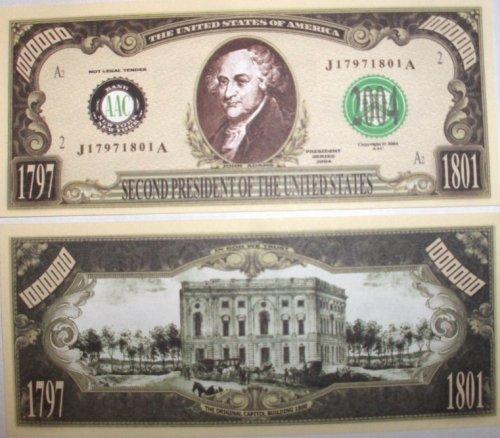 Buy Set of 100-president John Adams Million Dollar Bill