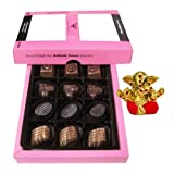 Chocholik - Lovely Delicious Chocolates With Small Ganesha Idol - Gifts For Diwali