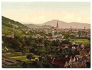 From Rebgut Sonnenberg Freiburg Baden A3 Box Canvas Print