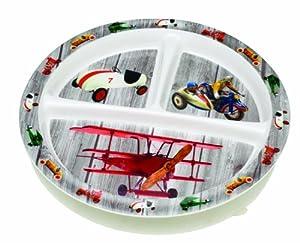Sugarbooger Wind Up Toys - Plato infantil con apartados (3 meses), color gris