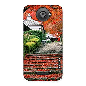 Impressive Stairs Garden Multicolor Back Case Cover for HTC One X