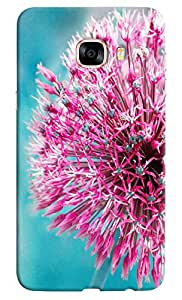 Omnam Pink Sea Plant Printed Designer Back Cover Case For Samsung Galaxy C5