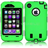 GREEN ARMOUR TOUGH SHOCK DROP PROOF HARD CASE FOR IPHONE 3G & 3GS COVER SKIN BACK APPLE BUILDERS WORKMAN HEAVY DUTY RUGGED EXPLORER
