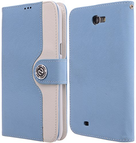 Boilfish,Blue,Flip Cover,Card Holder,Wallet,Stand,Pu Leather Case,Samsung Galaxy Note 2,Verizon,At&T,T-Mobile,Us Cellulan,Sprint.