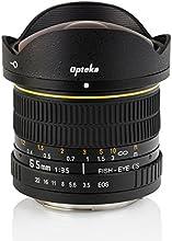 Opteka 6.5mm f/3.5 HD Aspherical Fisheye Lens with Removable Hood for Canon EOS 70D, 60D, 60Da, 50D, 1Ds, 7D, 6D, 5D, 5DS, Rebel T6s, T6i, T5i, T5, T4i, T3i, T3, T2i and SL1 Digital SLR Cameras