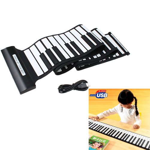 Image® 88 Keys Usb Professional Rubberized Flexible Roll-Up Electronic Piano Keyboard