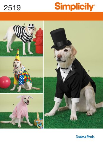 Simplicity 2519 Large Size Dog Costumes Sewing Pattern