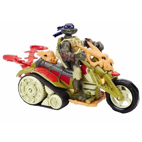 Picture of Playmates Donatello with Dino Bike: Teenage Mutant Ninja Turtles Paleo Patrol Series 4