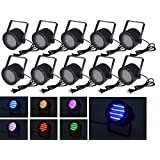 10pcs 86 RGB LED Stage Light Par DMX-512 Lighting Laser Projector Party DJ Disco