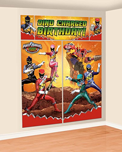 Power Rangers Dino Charge Scene Setters Wall Decorating Kit