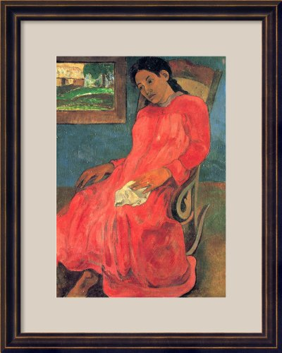 Woman Sitting On Rocking Chair, 1891 By Paul Gauguin Framed front-888583