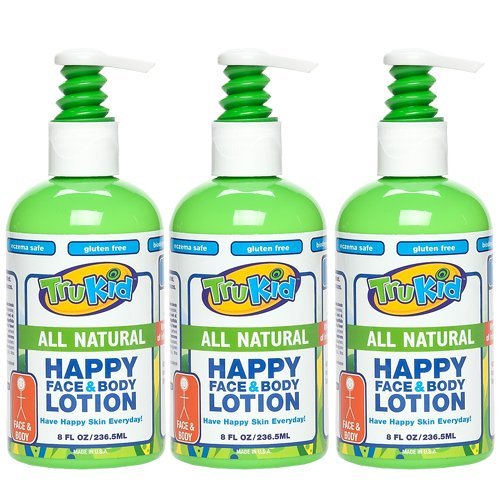 TruKid 3 Pc Value Pack: Trukid Happy Face & Body Lotion - Super Safe & Sensitive Lotion - 1