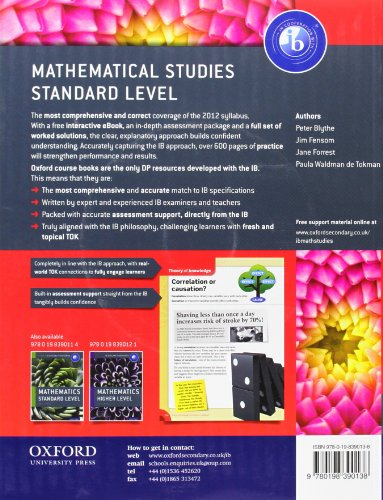 ib mathematical studies standard level course book pdf