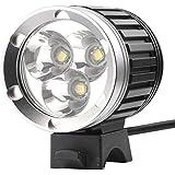 PLESONTECH 3800Lumen 2 in 1 CREE 3X CREE XM-L T6 LED Fahrrad Fahrradlampe Lampe Licht Scheinwerfer Taschenlampe- Versand aus Deutsch