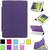BESDATA à Pour Apple iPad mini Housse Magnétique Smart Cover + Coque Arrière Dure Stylus Gratuit- Qualité Suprème - Protéger l'équipement - FR Stock - Violet - PT2505