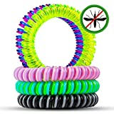 Mosquito Repellent Bracelets, SKYLARKING 10 Pack Pest Control Repeller up to 250Hrs of Insect Protection Wrist Bands for Adults & Kids -No Spray Deet-free All Natural Plant Oils - Outdoor and Indoor