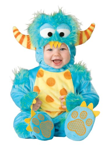 InCharacter Unisex-baby Newborn Monster Costume, Blue/Yellow/Orange, Small